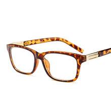 Модные квадратные оправы для очков для мужчин женщин ясно очки Оптический очки в оправе при близорукости рецепт ацетат медь(Китай)