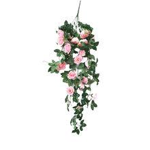 Имитация поддельных цветов роза лоза Настенный Цветок Орхидея висячая Корзина цветок гостиная балкон украшение для дома цветок(Китай)