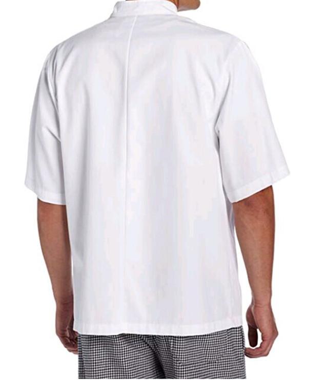 unisex short sleeve 10 button classic cook coat jacket uniform chef