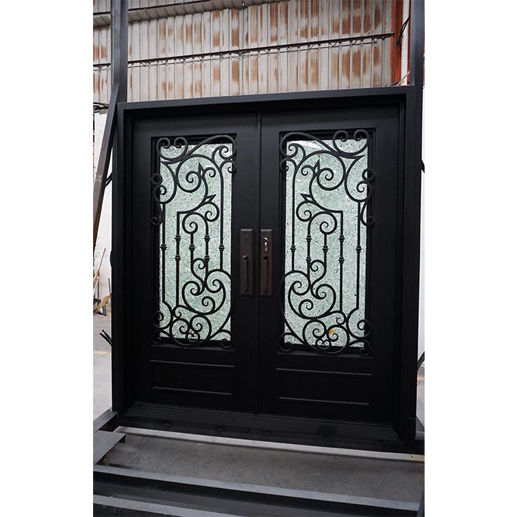 Square Top Villa Metal Steel Double Doors Exterior Entry Wrought Iron Doors Buy Iron Doors Exterior Metal Double Doors Exterior Exterior Steel Door Product On Alibaba Com