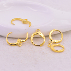 Earring Clip Earring Clip 11.5mm Golden Round Flat Wire Earring Clip Earring Findings