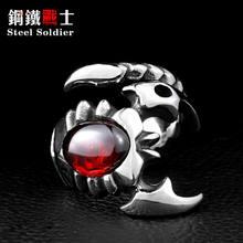 Стальное солдатское кольцо скорпиона модное ювелирное изделие из нержавеющей стали CZ крутое преувеличенное индивидуальное кольцо(Китай)