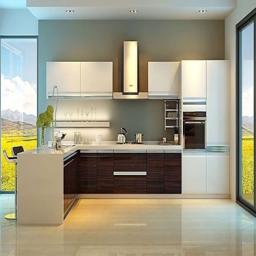 Simple Classy Home Interior Kitchen Acrylic Cabinets Design   Buy ...