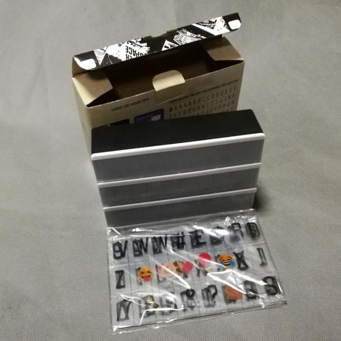 Großhandel A6 Kombination Led Nachtlicht Box Usb Port Diy Schwarz Buchstaben Karten Lampe Message Board Party Zeichen Kino Lightbox Lb88 Von Grege