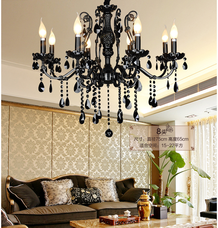 Glass Chandeliers For Dining Room: Antique-black-crystal-chandelier-dining-room-Bohemian