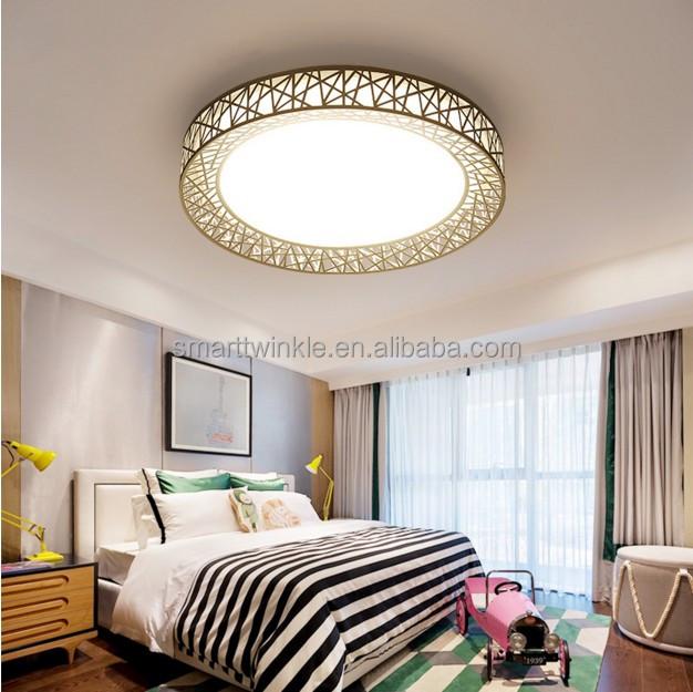 12w Modern Indoor Led Ceiling Lights Round Bedroom Decoration