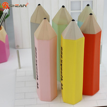 1X Creative Stationery font b Pencil b font Style Silicone Pen Bag font b Box b