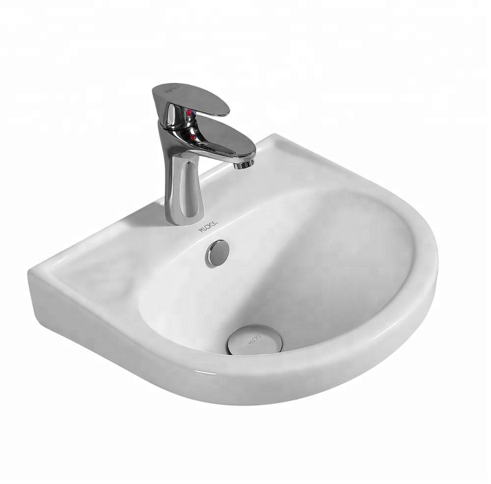 Bathroom Ceramic Wall Mounted Lavatory Sink Wash Hand Small Corner Bathroom Vanity Buy Wall Mounted Sink Wall Hung Wash Basin Small Corner Bathroom Vanity Product On Alibaba Com
