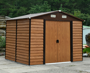 Metal wooden color shed for garden storage