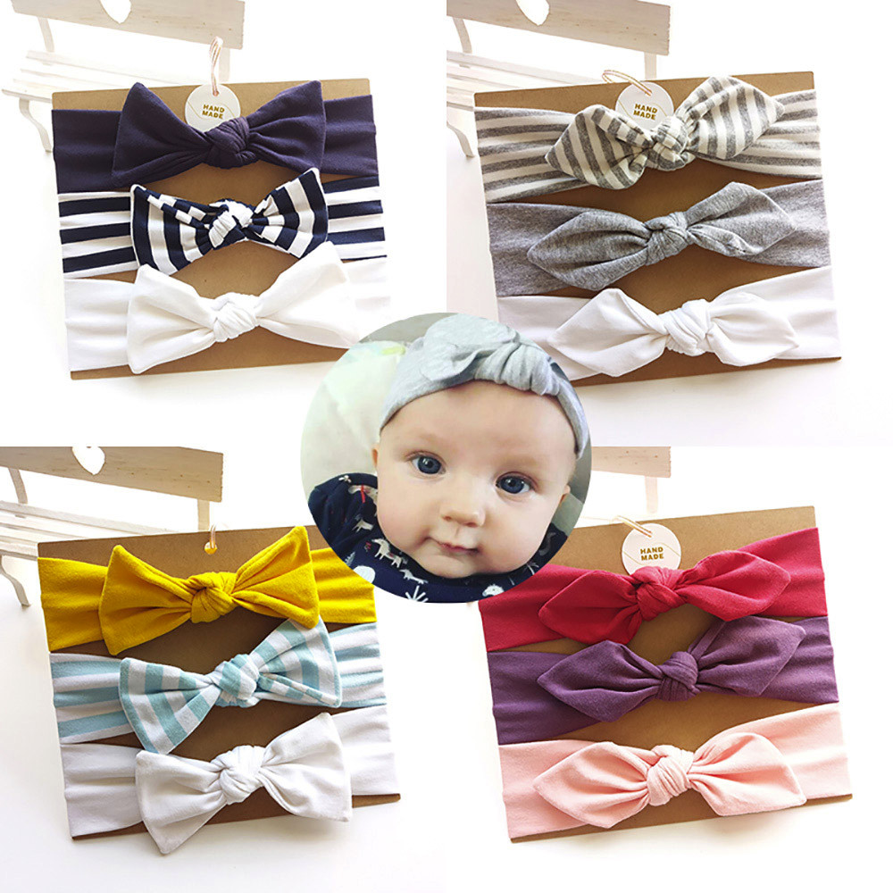 Hit Color Headwear Kids Floral Headband Girls Baby Elastic Bowknot ... 4b396ba6e3b9