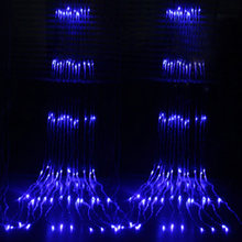 3X3 м водопад занавес светодиодный Сказочный светильник гирлянда поток воды Метеоритный дождь Дождь светильник окно сосулька Декор Светиль...(Китай)