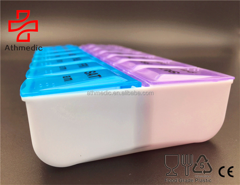 2021 атмедический контейнер для таблеток еженедельного класса am/pm, Органайзер