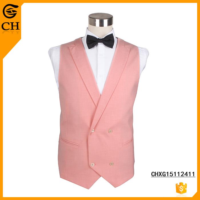 Chunhe Custom New Design Linen Bartender Waistcoat Vest