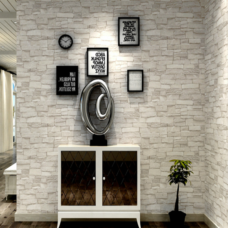 Grey White Brick Stone 3d Wall Slate Effect Wallpaper Buy Brick Design Wallpaper Brick Walpaper Brick Pattern Wallpaper Product On Alibaba Com