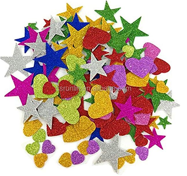 Красивые блестящие листы eva, пенопластовые украшения для дня рождения