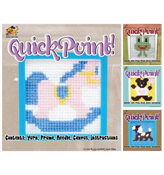 DIY cheerful horse plastic canvas cross stitch kit