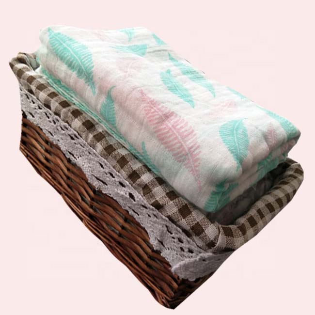hot sale bamboo cotton muslin baby swaddle blanket