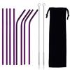 Purple(4 straight+4 bent+2 brush+1 pouch)