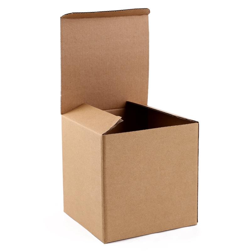 Plain Kraft Brown Square Favour boxes