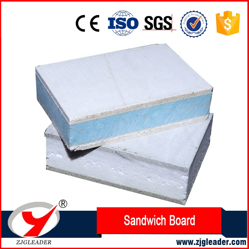 ZLGLEADER EPS Foam Light Weight MGO Sip Panel/perforated sandwich corner can be used for container house
