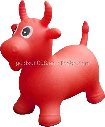 Bouncy Animal Hopper pvc Jumping Animal Toys For Kids