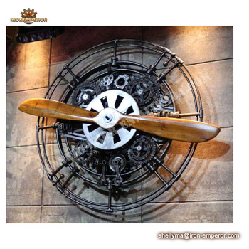 House and restaurant Iron propeller metal craft for coffee bar decoration interior home