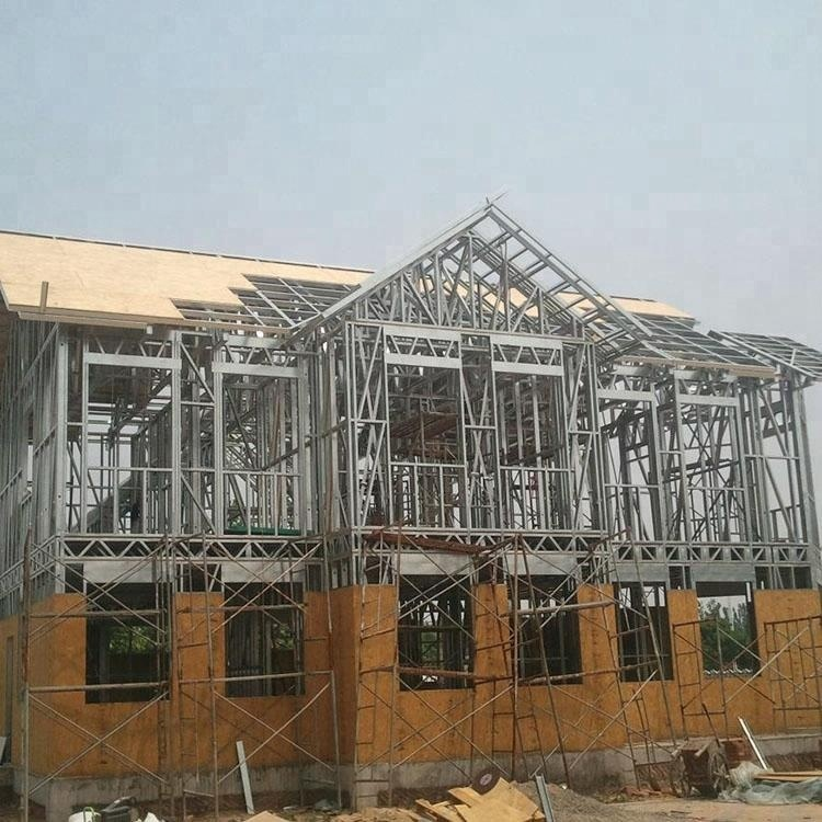 Small modular homes steel structure villa house prefab homes for sales family house price