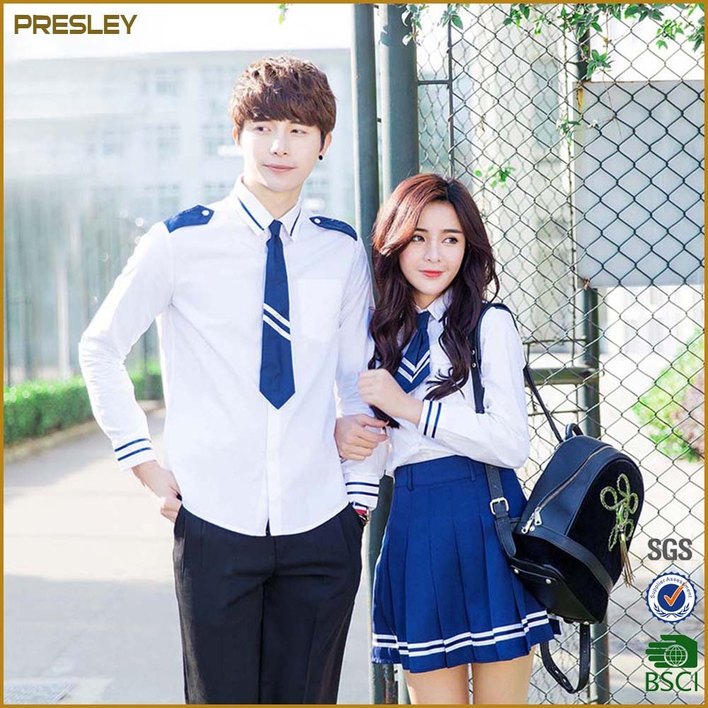 Korean Style Custom High School Uniform Sets Factory