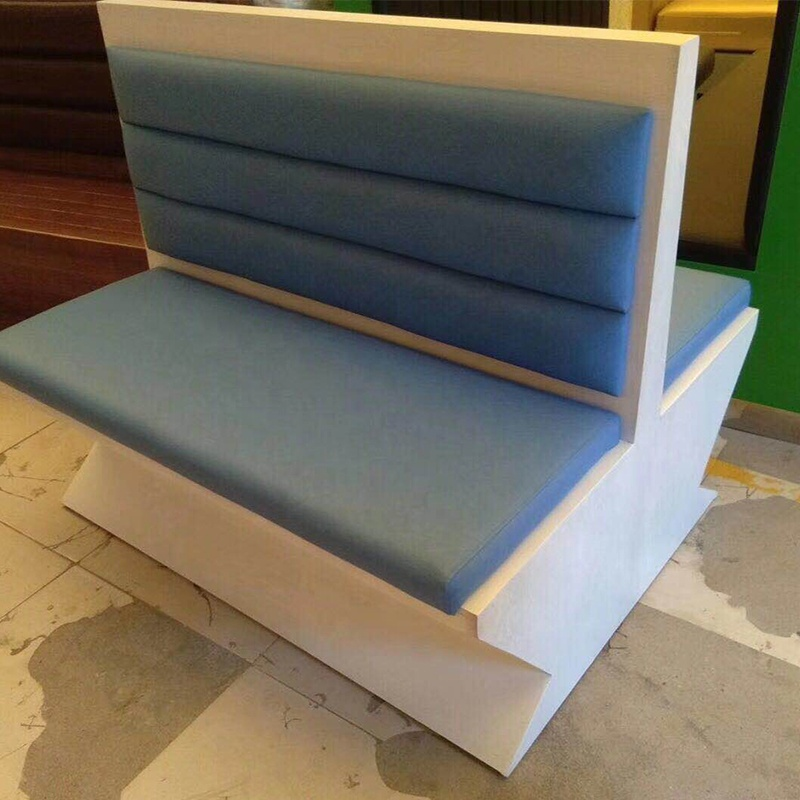 restaurant furniture sofa button design leather and fabric from 100$/m custom-made order