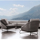 New styles hollow out design modern rope weave patio used sofa set furniture