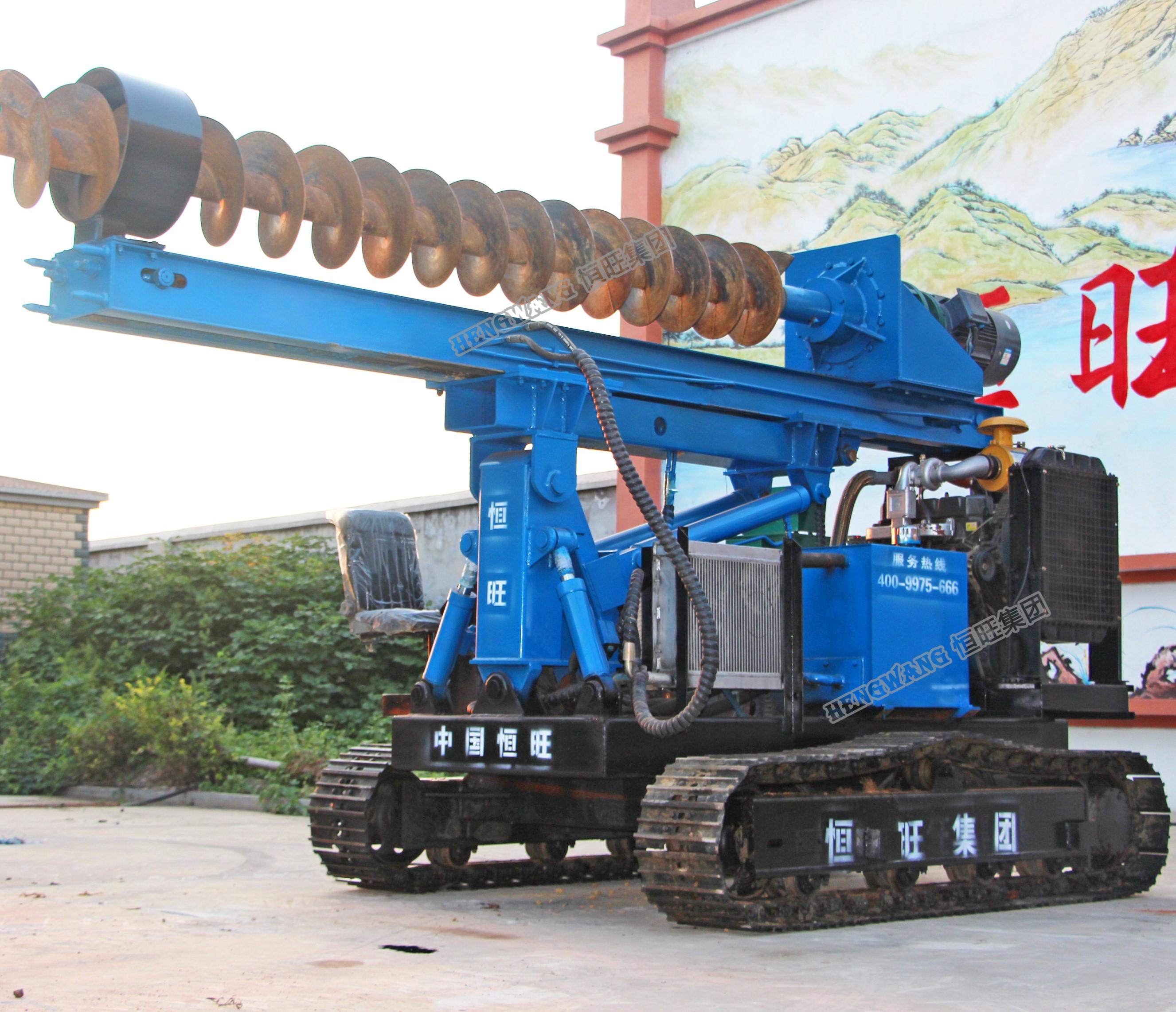 Hengwang CE поворотный диаметр сваебойная машина винт сверлильный станок, земли, земельный шнек сверлы, диаметр свайного фундамента машина для продажи