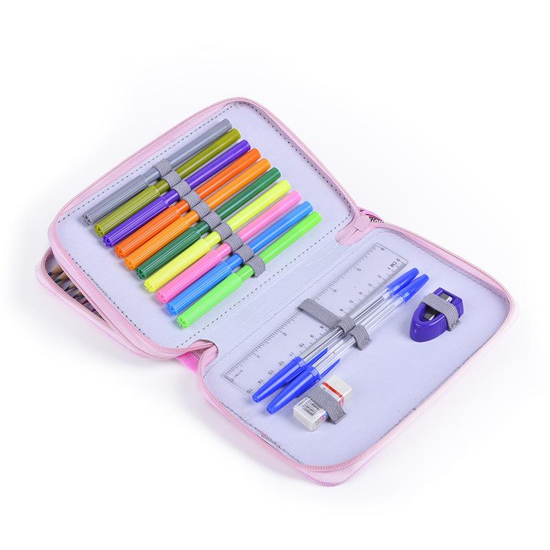 Набор цветных карандашей в тканевой сумке для карандашей