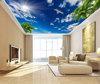 5white cloud Blue sky stretch ceiling