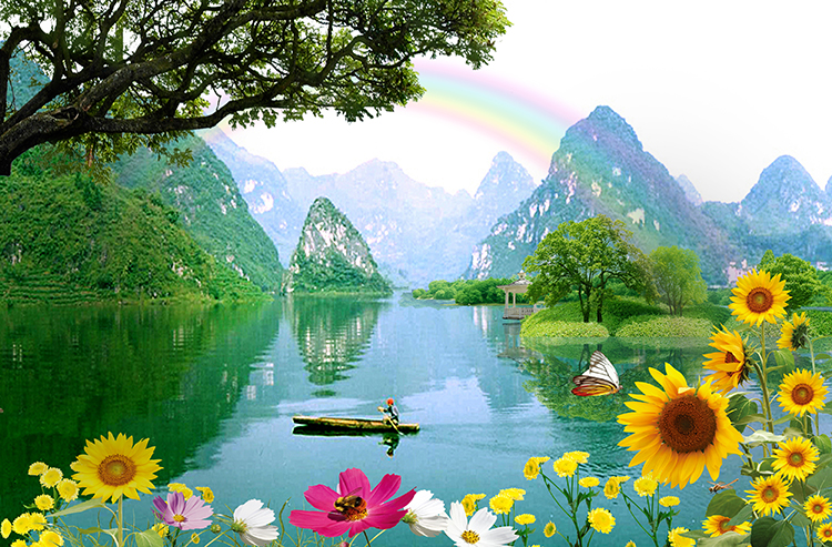 Natural Scenery Painting Photo Wallpaper 3d Wall Price View Wallpaper 3d Wall Price Myhome Product Details From Guangzhou Myhome Wallpaper Co Ltd