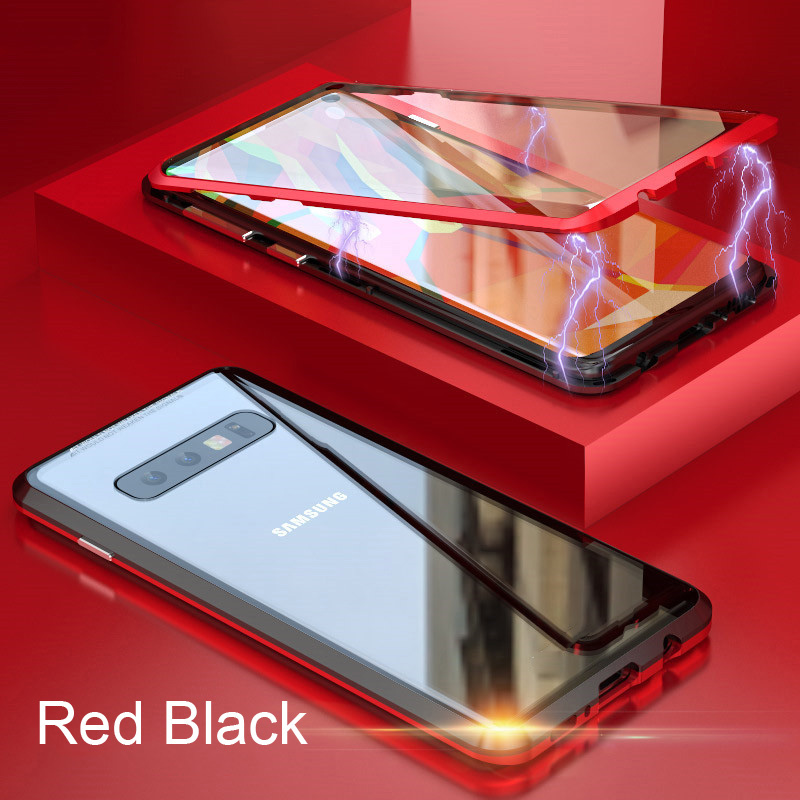 Oppselve 360 двусторонний стеклянный Магнитный чехол для samsung Galaxy S10 S9 S8 Plus + задняя крышка из закаленного стекла на магните(Китай)