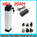 48V 20AH top discharge electric bike lithium battery 48V 700w bike battery Aluminum housing BMS and