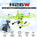 2016 New H26 H26W 2 4G 4CH 6 Axis Gyro Wifi FPV RC Quadcopter Real time