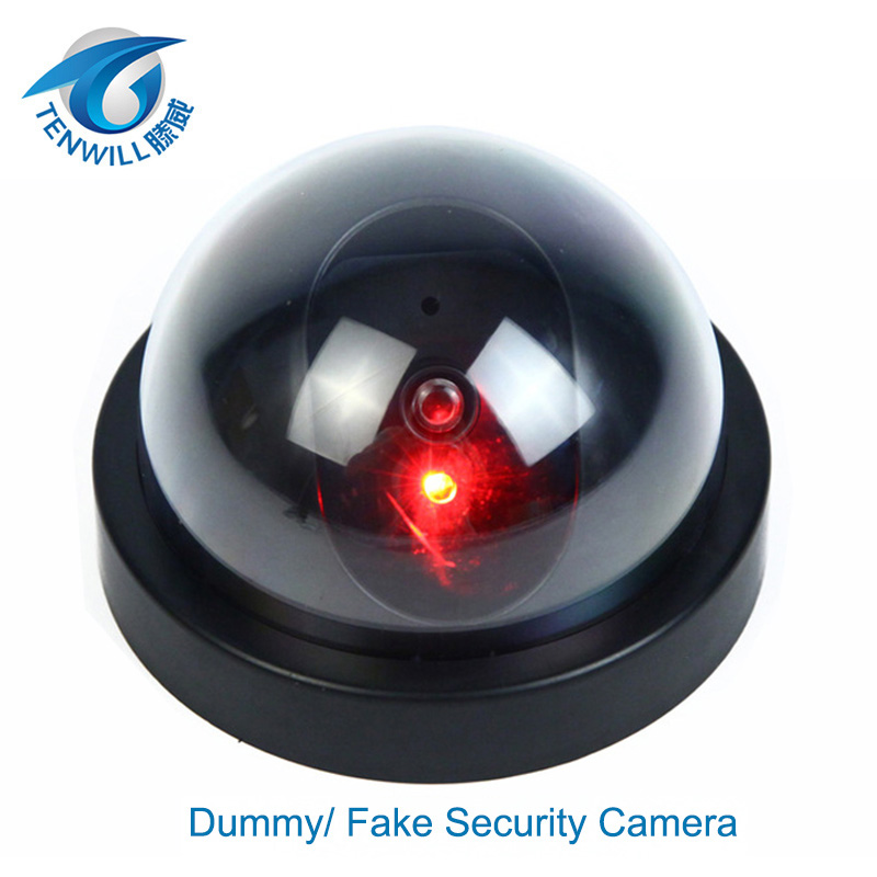 surveillance dummy flash blinking led fake dome camera home cctv security simulated video. Black Bedroom Furniture Sets. Home Design Ideas