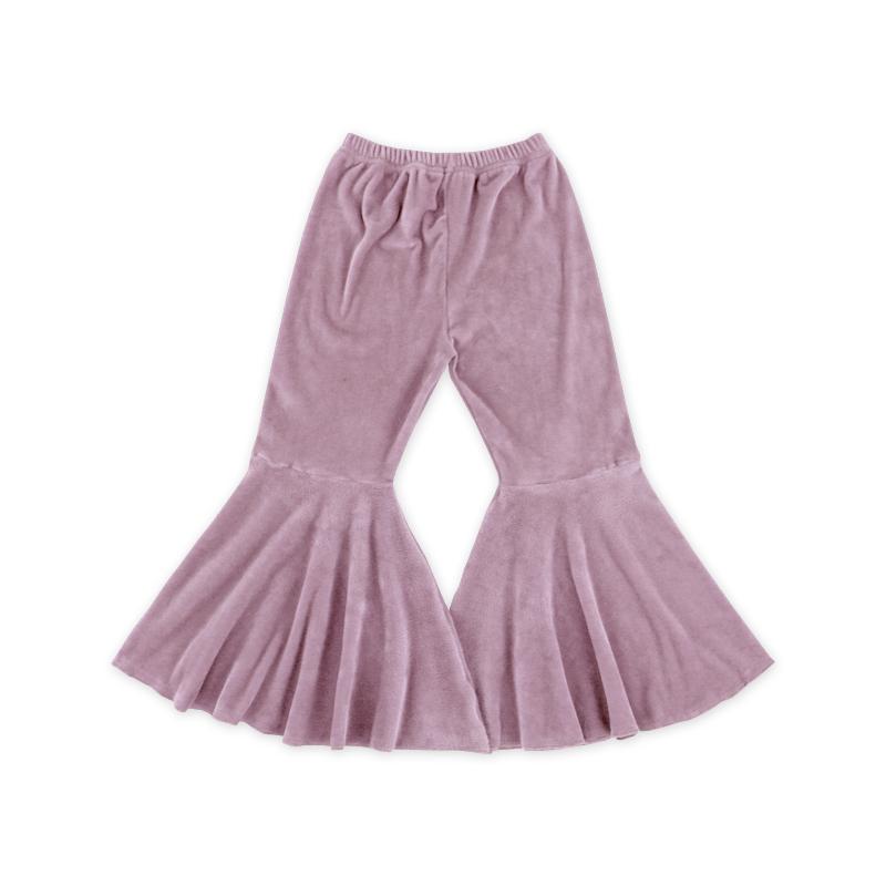Горячая Распродажа брюки с оборками Детские однотонные леггинсы с оборками оптом штаны с оборками для маленьких девочек
