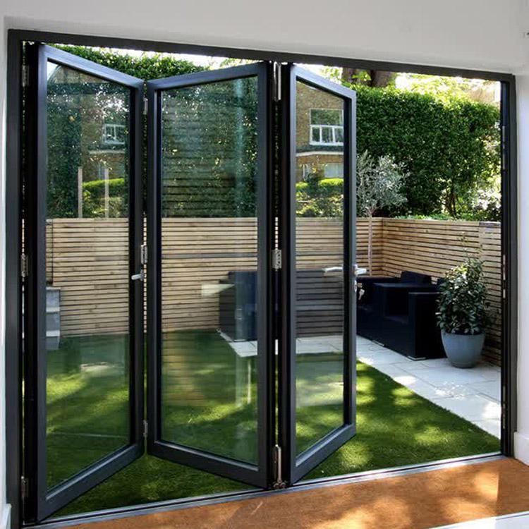 Exterior Glass Door Bifold Folding Door Aluminum Frame Buy Exterior Door Folding Door Bifold Door Product On Alibaba Com