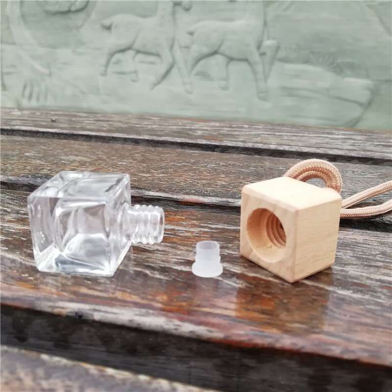 5ml Empty Square Shaped Diffuser Bottle Car Perfume Bottles Hanging Car Air Freshener for Car Diffuser Use