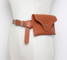 Поясная Сумка для женщин, Кожаная поясная сумка-конверт, Модный женский однотонный поясной ремень для денег, функциональная сумка для телеф...(Китай)