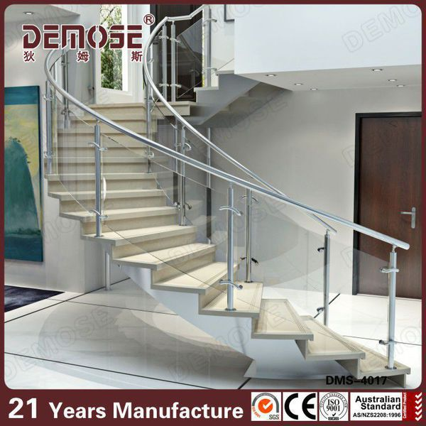 Height Quality Curved Stairs Glass Railings Design Buy Staircase Glass Railing Designs Acrylic Interior Stair Railings Glass Stair Railing Pillars Product On Alibaba Com