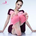 Pieryoga professional yoga socks non slip leakage Female Yoga breathable deodorant 5 toes sports pilates Semi