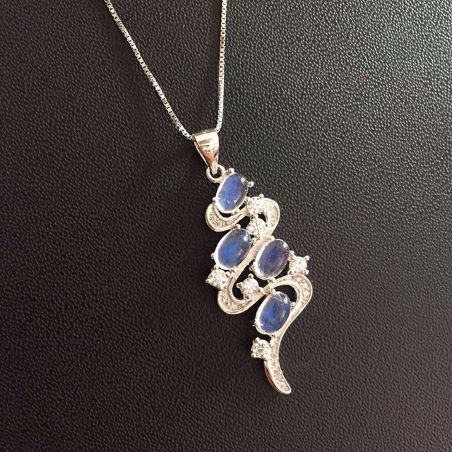 New personalized fashion natural blue moonstone pendant ...