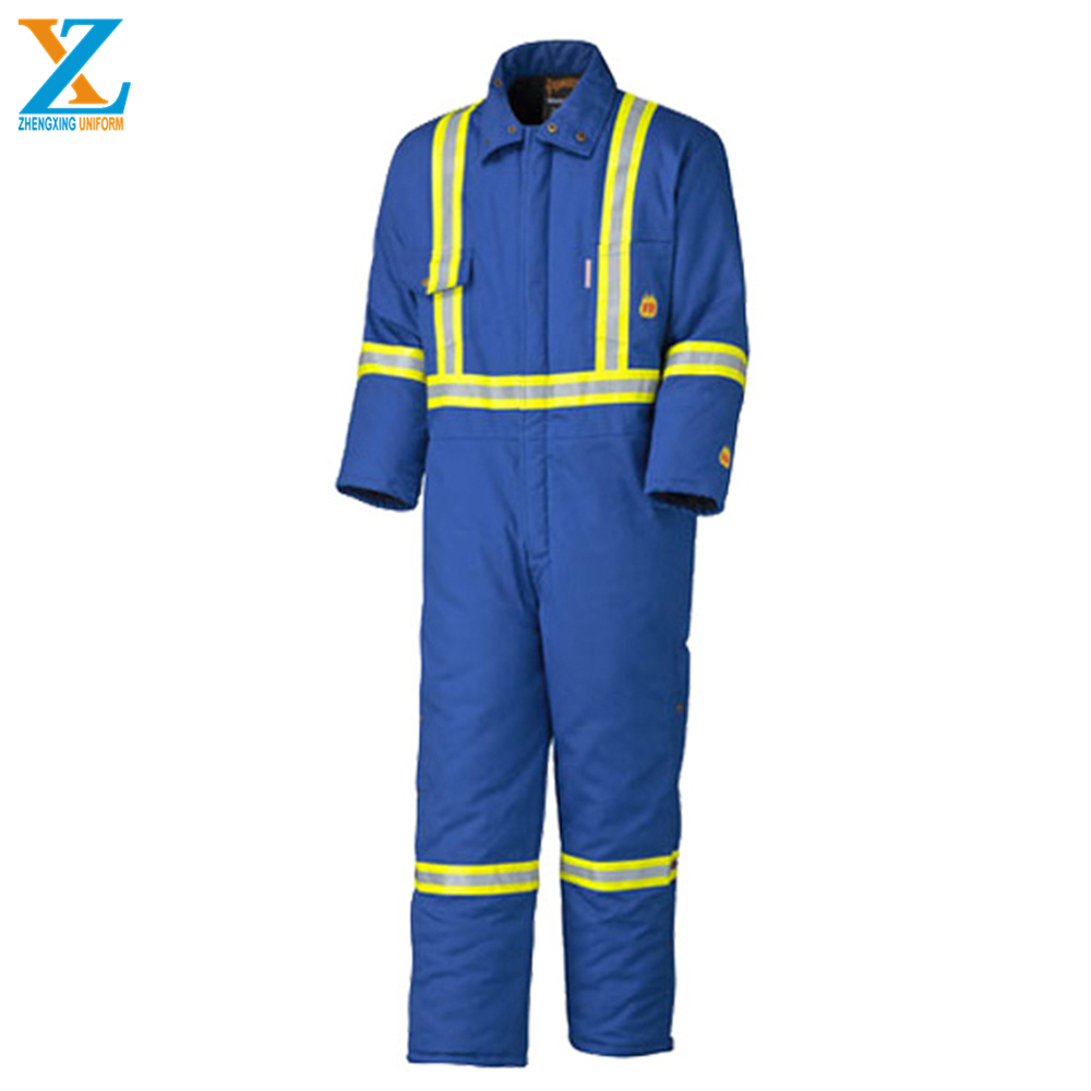 Brand new protective boiler suit in safety workear