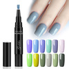 Blue nail polish gel pen
