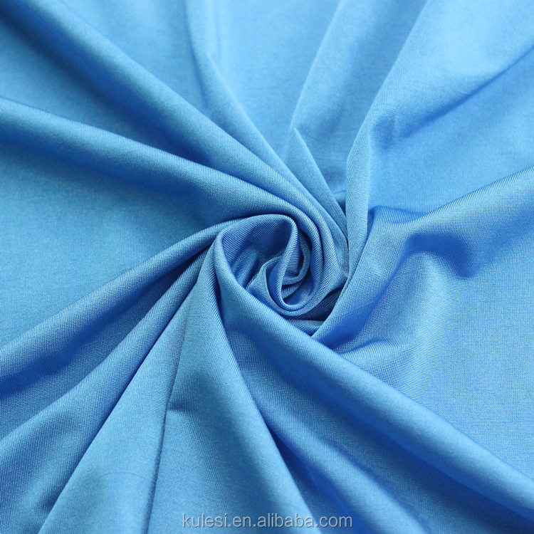 Cheap 75D DTY 170GSM knitted polyester spandex single jersey fabric for garment material and lining