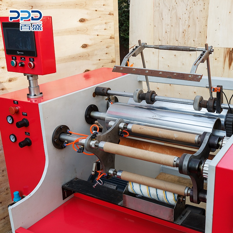 Latest Technology Safety 3 Shaft Aluminium Foil Winding Machine