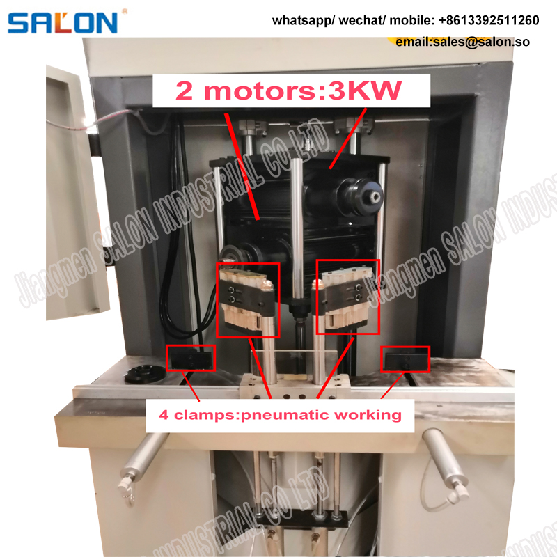 JS5130 45 Degree Double Saw Photo Frame Moulding Cutting Machine Guillotine